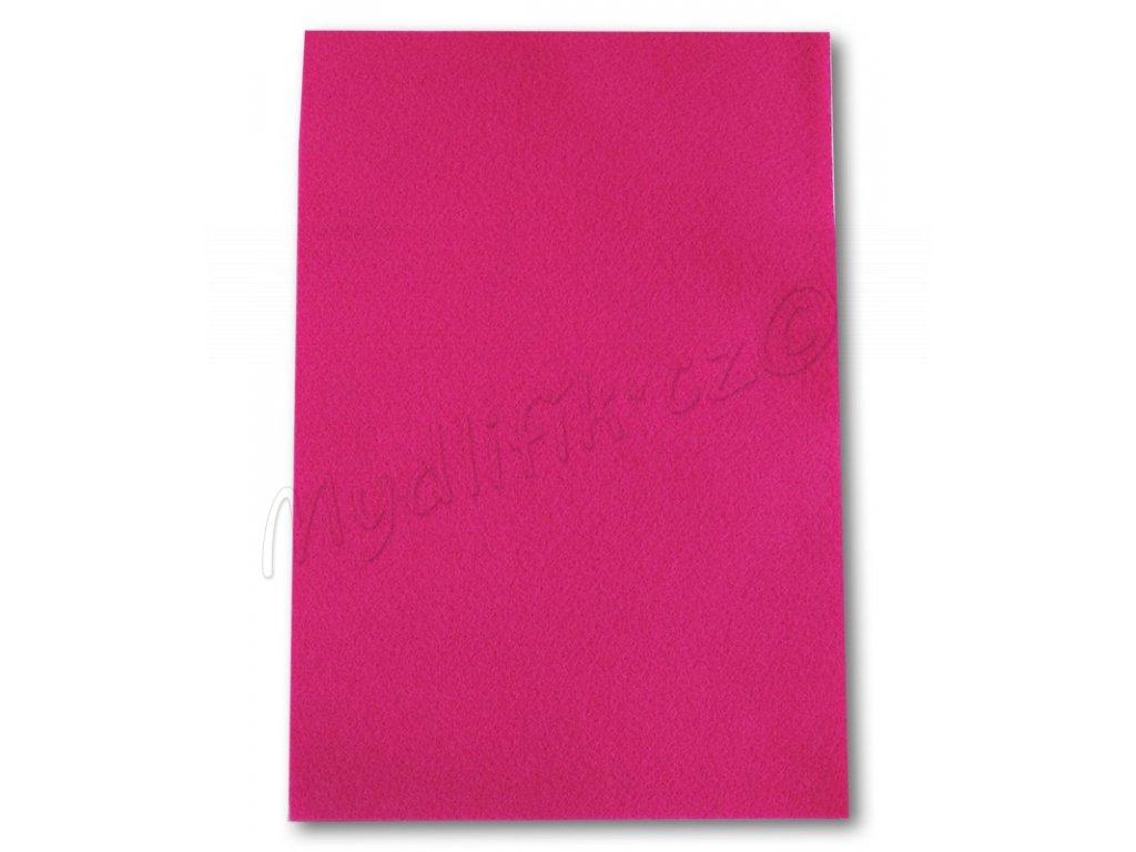 a8b20e68d Dekorační filc/plst Folia - 20 x 30 cm - 1 list - růžový | Mydlifík.cz