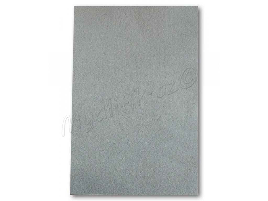 ed82ed8bc Dekorační filc/plst Folia - 20 x 30 cm - 1 list - šedý | Mydlifík.cz