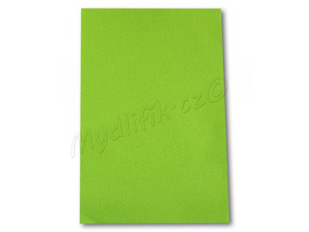 62df1b5db Dekorační filc/plst Folia - 20 x 30 cm - 1 list - světle zelený ...