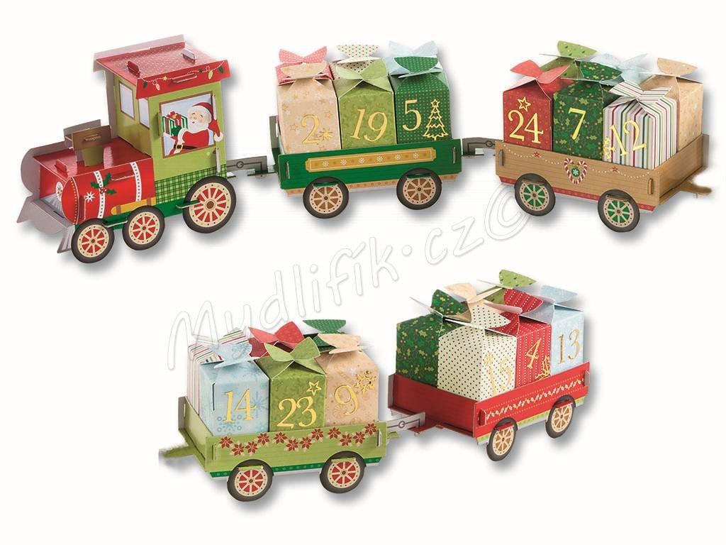 Folia 9394 - Adventní kalendář - Vánoční vláček - 60 dílů