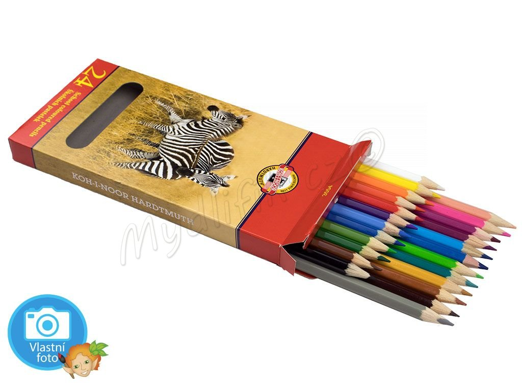 Souprava školních pastelek Koh-i-noor ZVÍŘATA - 3554 - 24 barev