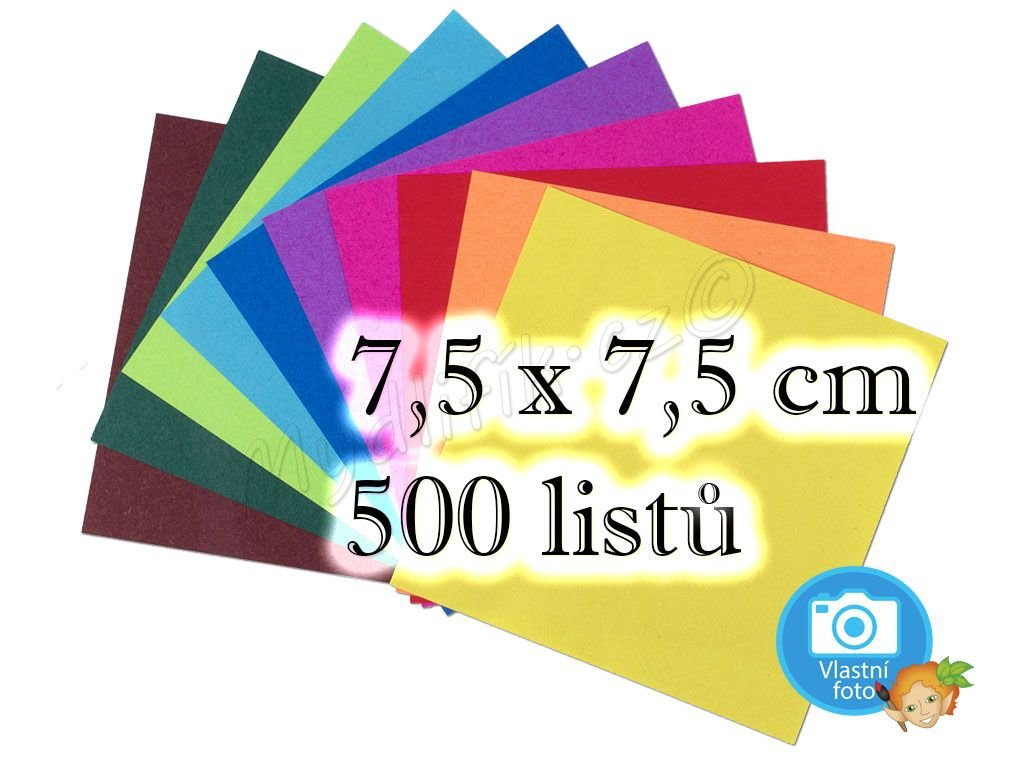 Folia 8957 - origami papíry 7,5 x 7,5 cm, 500 listů