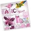 Origami papír Basics 80 g/m2 - 20 x 20 cm, 50 archů - růžový