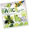 Origami papír Basics 80 g/m2 - 20 x 20 cm, 50 archů - zelený