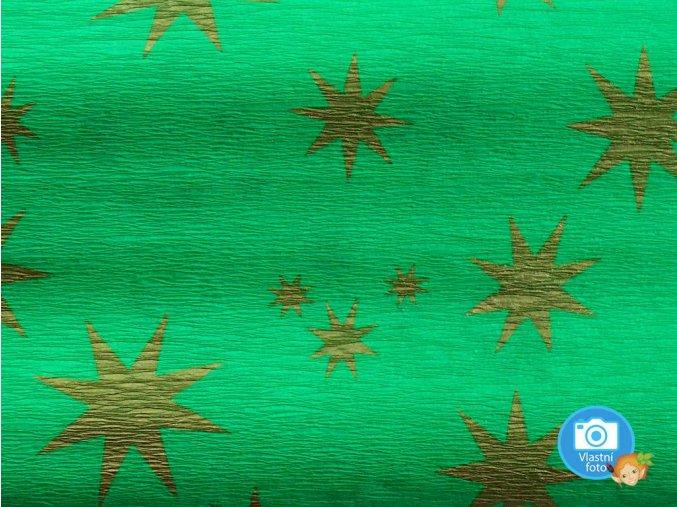 Koh-i-noor 9755-75 Krepový papír zeleno-zlatá hvězda