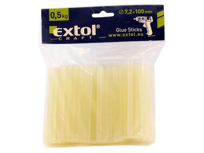 Tavné lepící tyčinky EXTOL Ø 7 mm, 0,5kg