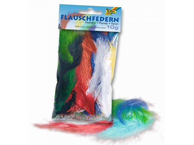 Peříčka flaušová barevná - 10-20 cm - 10 g