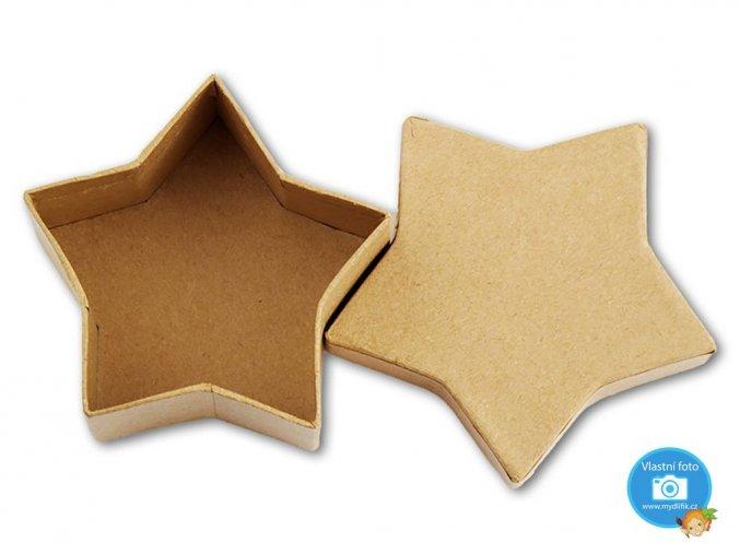 Folia 3325 - Krabička papírová natur - hvězda
