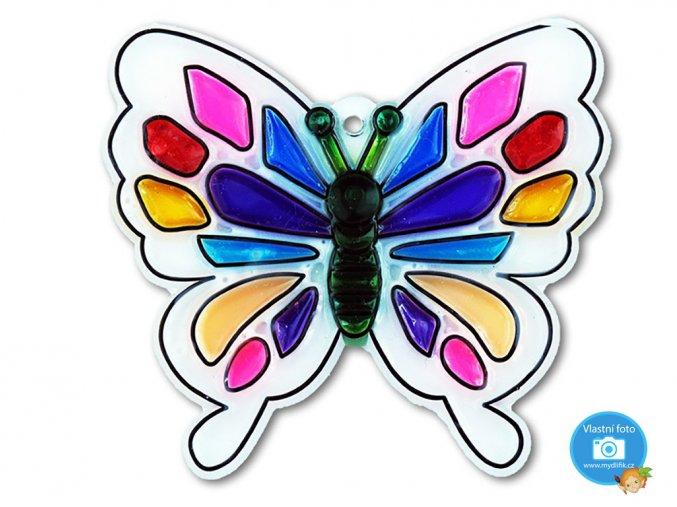 Závěsná šablona pro barvy na sklo - motýl