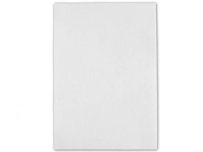 Folia 520400 - Dekorační filc/plst Folia - 20 x 30 cm - bílý