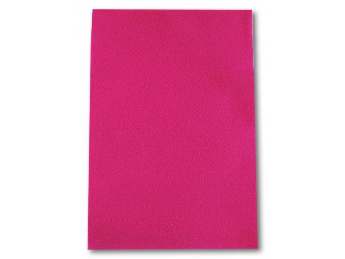 Dekorační filc/plst - 20 x 30 cm - růžový