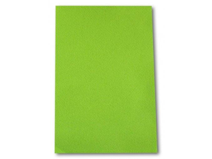 Dekorační filc/plst - 20 x 30 cm - světle zelený