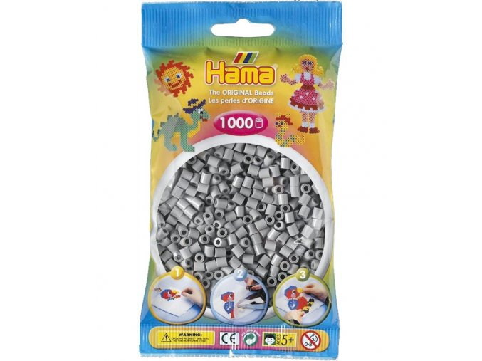 HAMA korálky H207-17 šedé