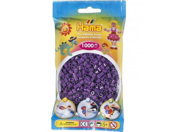 207-07 zažehlovací HAMA korálky fialové