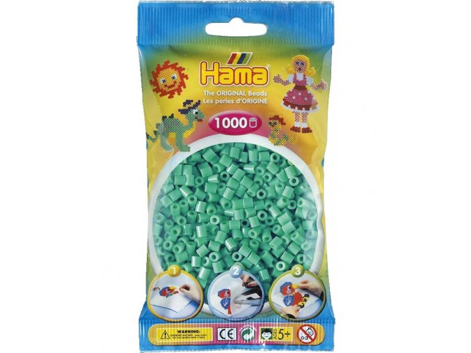 207-11 zažehlovací HAMA korálky světle zelené