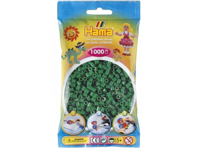 207-10 zažehlovací HAMA korálky zelené