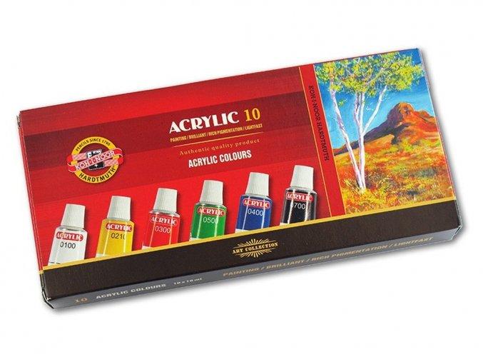 Kohinoor162703 - Akrylové barvy 10 x 16 ml