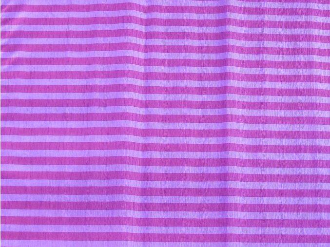Krepový papír pruhovaný - 9755/62 - fialovo-fialový