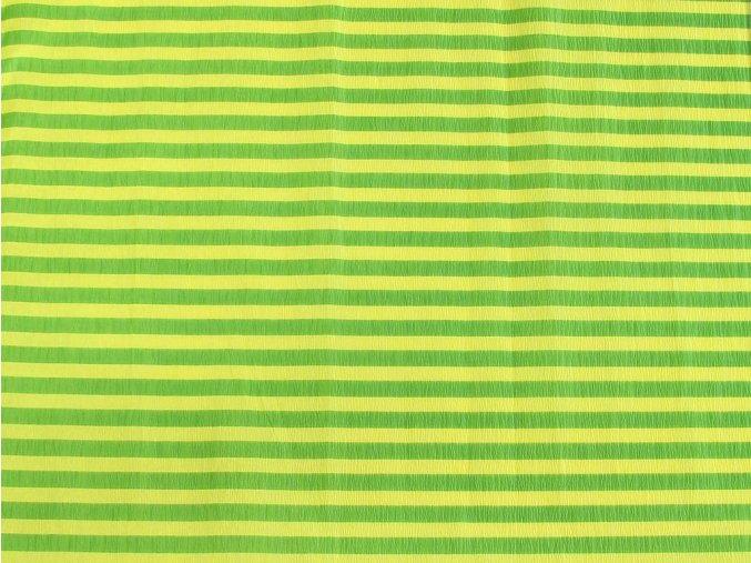 Krepový papír pruhovaný - 9755/70 - žluto-zelený