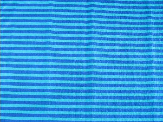 Krepový papír pruhovaný - 9755/63 - modro-modrý