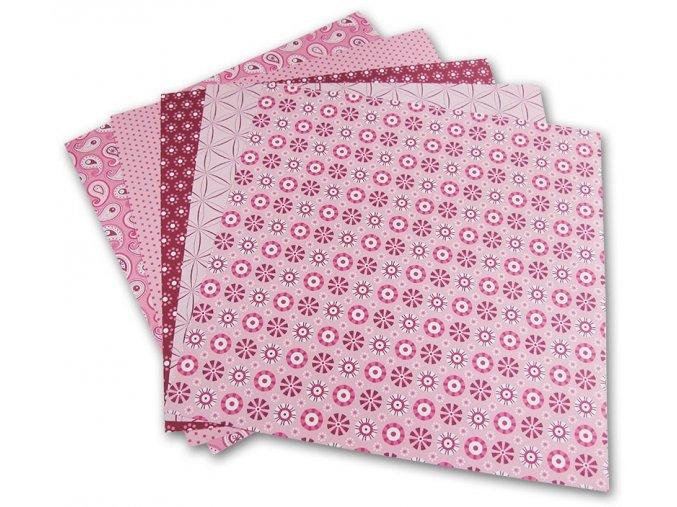 Origami papír 10 x 10 cm, 50 archů - růžový, prodává Mydlifík.cz