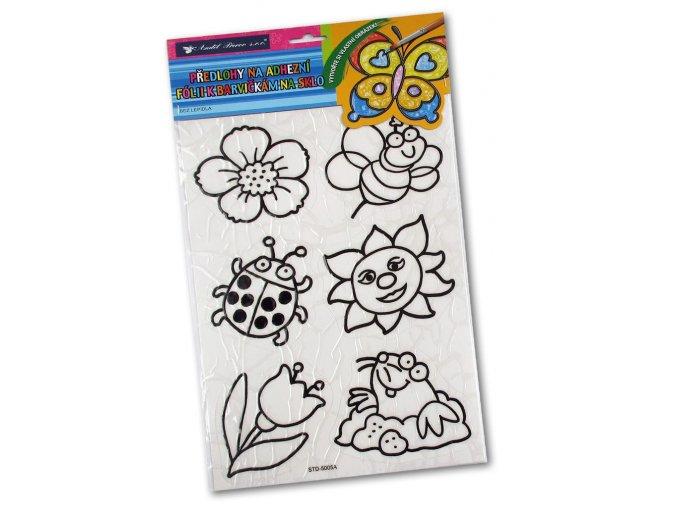 Šablony k barvám na sklo - Květiny