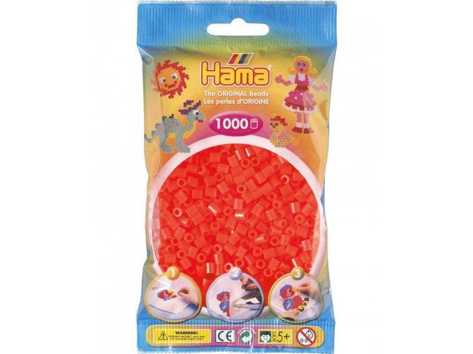 zažehlovací H207-36 Hama korálky neonově červené