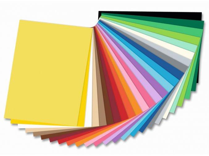 Folia - Barevné papíry (čtvrtky) - 300 g/m2, 25 barev, 35 x 50 cm