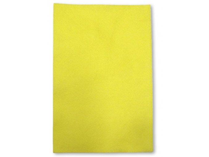 Dekorační filc/plst - 20 x 30 cm - citrónový