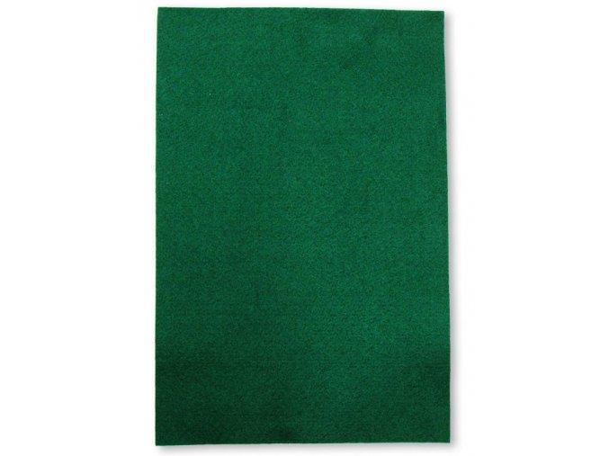 Dekorační filc/plst - 20 x 30 cm - tmavě zelený