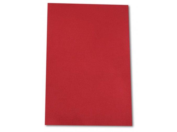 Dekorační filc/plst - 20 x 30 cm - červený