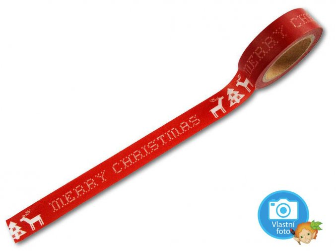Folia 26054 - Washi Tape - dekorační lepicí páska - Merry Christmas