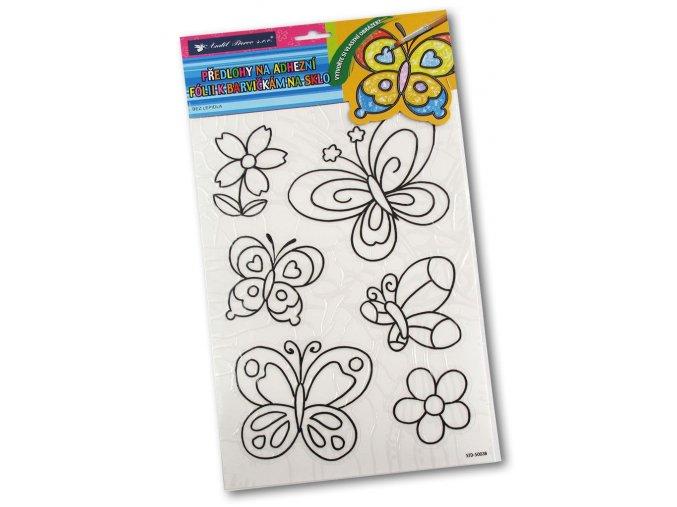 Šablony k barvám na sklo - Motýli