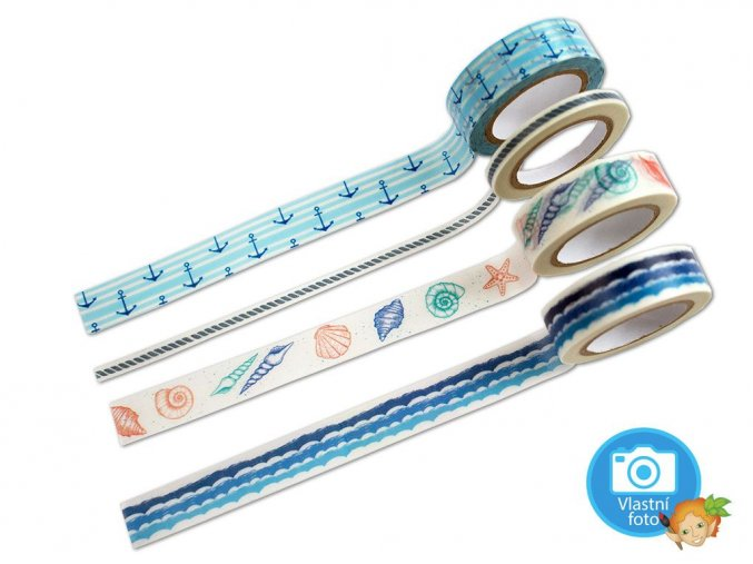 Folia 26424 - Washi tape - motiv MOŘE