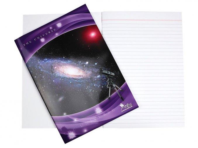 Velký sešit 484 linkovaný,  Vesmír, Notes Slavošovce