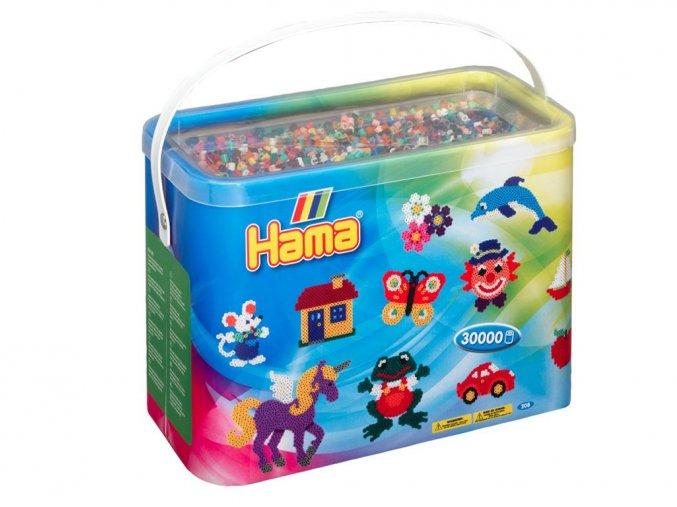 HAMA 208-67 zažehlovací korálky v krabici, 30 000 kusů