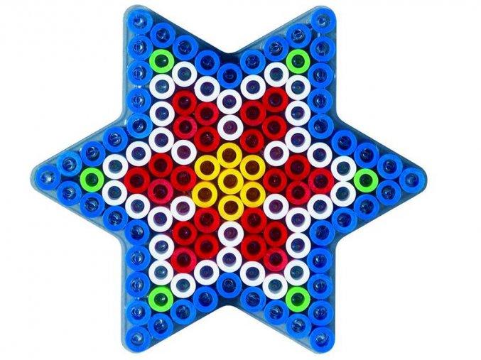 Hama 8222 - podložka pro zažehlovací korálky Maxi - HVĚZDA