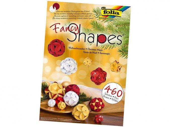 Folia 25029 - Papírové vánoční dekorativní koule - 460 dílů