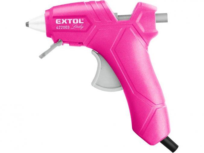 Tavná lepící pistole 422003, 25 W, EXTOL LADY růžová