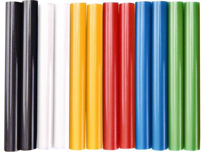 Extol 9909 Tavné lepící tyčinky barevné, 11 x 100 mm, 12 kusů