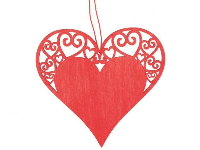 Anděl Přerov 4215 - Dřevěné srdce 10 cm