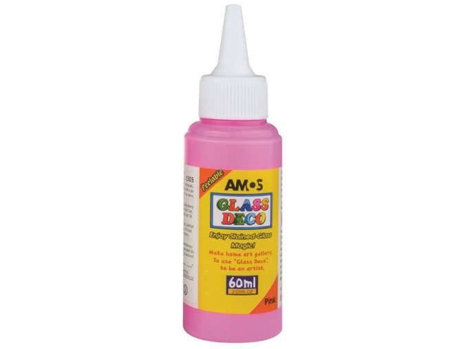 AMOS 1503 - Slupovací barva na sklo - RŮŽOVÁ, 60 ml