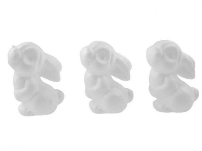 Anděl Přerov 6720 - Zajíčci z polystyrenu, 7 cm, 3 ks