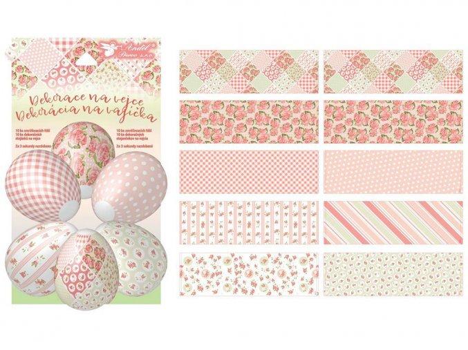 Anděl Přerov 7735 - Smršťovací fólie na velikonoční vajíčka - motiv Dekupáž, 10 ks