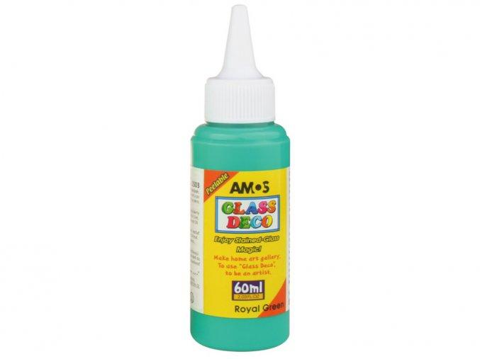 AMOS 1503 - Slupovací barva na sklo - TMAVĚ ZELENÁ, 60 ml