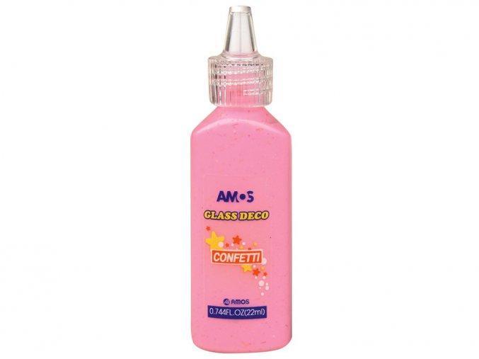 AMOS 1532 - Slupovací barva s konfetami - růžová, 22 ml