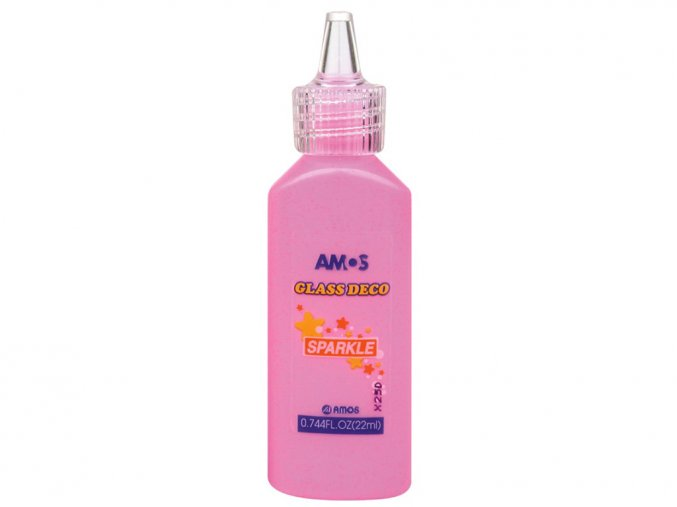 AMOS 1560 - Slupovací barva se třpytkami - růžová, 22 ml