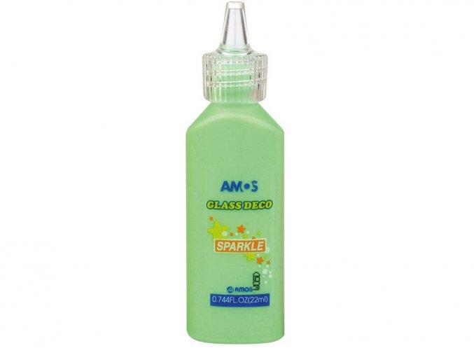 AMOS 1560 - Slupovací barva se třpytkami - zelená, 22 ml