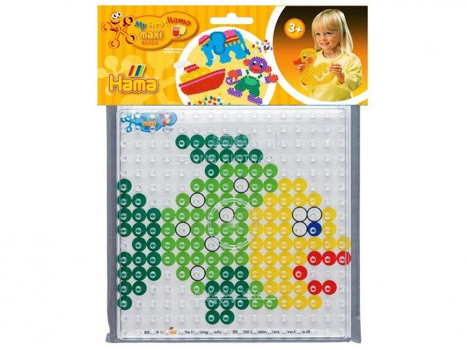 Hama 8283 - podložka pro zažehlovací korálky Maxi - čtverec + barevná předloha