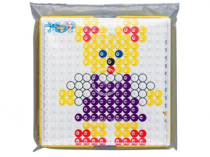 Hama 8282 - podložka pro zažehlovací korálky Maxi - čtverec + 10 barevných předloh